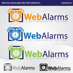 Logo for WebAlarms - Alert services on the web - Entry #13