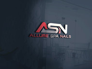 Allure Spa Nails Logo - Entry #48