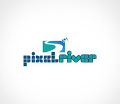 Pixel River Logo - Online Marketing Agency - Entry #226