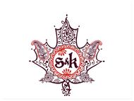 S K Indian Henna Maple Leaf Logo Logo Design Contest