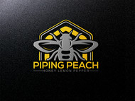 Piping Peach, Honey Lemon Pepper Logo - Entry #41