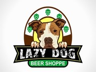 Lazy Dog Beer Shoppe Logo - Entry #8
