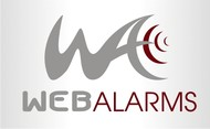 Logo for WebAlarms - Alert services on the web - Entry #158