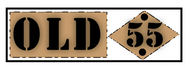 """""""OLD 55"""" - mid-century vintage furniture and wares store Logo - Entry #172"""