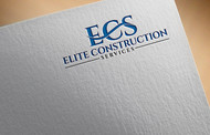 Elite Construction Services or ECS Logo - Entry #244