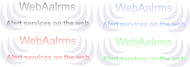 Logo for WebAlarms - Alert services on the web - Entry #78