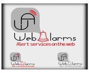 Logo for WebAlarms - Alert services on the web - Entry #198