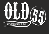 """""""OLD 55"""" - mid-century vintage furniture and wares store Logo - Entry #212"""