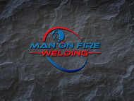 Man on fire welding Logo - Entry #10