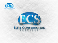 Elite Construction Services or ECS Logo - Entry #208