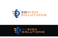 3D Sign Solutions Logo - Entry #19