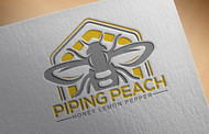 Piping Peach, Honey Lemon Pepper Logo - Entry #38