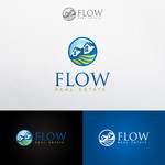 Flow Real Estate Logo - Entry #108