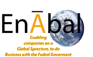 """Ena""bling companies on a glo'bal' spectrum, to do bus. with the Federal Govt Logo - Entry #40"
