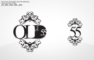 """""""OLD 55"""" - mid-century vintage furniture and wares store Logo - Entry #142"""