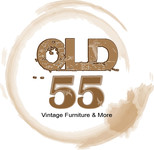 """""""OLD 55"""" - mid-century vintage furniture and wares store Logo - Entry #144"""