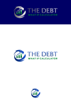 The Debt What If Calculator Logo - Entry #34