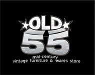"""""""OLD 55"""" - mid-century vintage furniture and wares store Logo - Entry #133"""