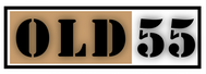 """OLD 55"" - mid-century vintage furniture and wares store Logo - Entry #171"
