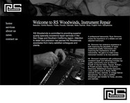Woodwind repair business logo: R S Woodwinds, llc - Entry #104