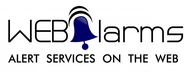 Logo for WebAlarms - Alert services on the web - Entry #178