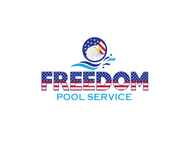 Freedom Pool Service Logo - Entry #128