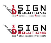3D Sign Solutions Logo - Entry #196