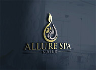 Allure Spa Nails Logo - Entry #25