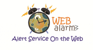 Logo for WebAlarms - Alert services on the web - Entry #17