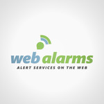 Logo for WebAlarms - Alert services on the web - Entry #138