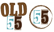 """""""OLD 55"""" - mid-century vintage furniture and wares store Logo - Entry #116"""