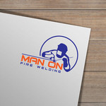 Man on fire welding Logo - Entry #27