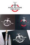 Man on fire welding Logo - Entry #48