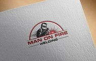 Man on fire welding Logo - Entry #69
