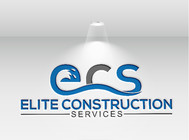 Elite Construction Services or ECS Logo - Entry #347