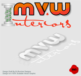 MvW Interiors Logo - Entry #1