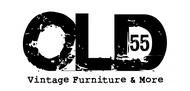 """""""OLD 55"""" - mid-century vintage furniture and wares store Logo - Entry #177"""