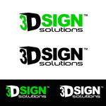 3D Sign Solutions Logo - Entry #106