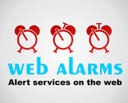 Logo for WebAlarms - Alert services on the web - Entry #142