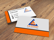 CA Coast Construction Logo - Entry #43