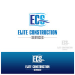 Elite Construction Services or ECS Logo - Entry #164