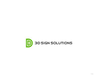 3D Sign Solutions Logo - Entry #158