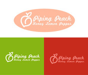 Piping Peach, Honey Lemon Pepper Logo - Entry #23