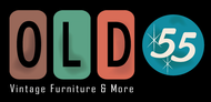 """""""OLD 55"""" - mid-century vintage furniture and wares store Logo - Entry #203"""