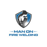 Man on fire welding Logo - Entry #63