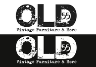 """""""OLD 55"""" - mid-century vintage furniture and wares store Logo - Entry #180"""