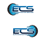 Elite Construction Services or ECS Logo - Entry #20