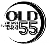 """""""OLD 55"""" - mid-century vintage furniture and wares store Logo - Entry #181"""