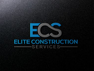 Elite Construction Services or ECS Logo - Entry #174