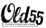 """""""OLD 55"""" - mid-century vintage furniture and wares store Logo - Entry #155"""